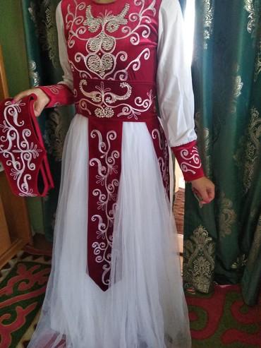 Женская одежда в Чон Сары-Ой: Продается национальное платье.44-размер один раз одевала на кыз