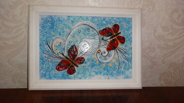 Картина бабочки ручная работа размер А4