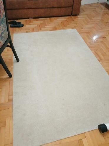 Boja bele kafe - Srbija: Tepih beli prirodna vuna 135x200 Vuna je vanvremenski materijal koji j
