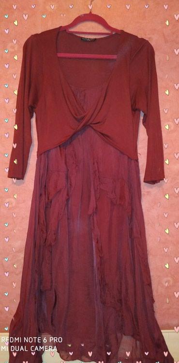 Шёлковое платье, Italy, бардо очень красивое, размер 38/40 в Бишкек