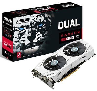 ASUS Radeon RX 480 4Gb, состояние идеальное, не греется, не шумит (при