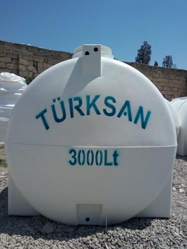 Türksan şirkətinin poletilendən hazırlanmış su çənləri. Oval formalı