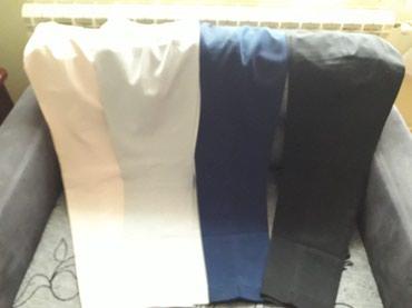 I pantalone broj - Srbija: Pantalone bez i sive nove,teget i crne nosene.Br.40.Sve 1000din
