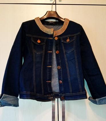джинсова курточка в Кыргызстан: Джинсовая курточка стречевая.новая размер 46