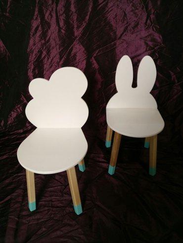 Set sto i stolice za decu napravljene od brezine šper ploče i hrasta - Kovin
