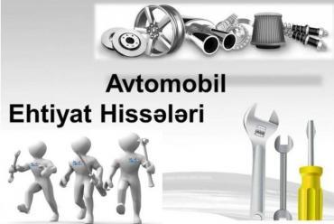 Bakı şəhərində Nissan, Toyota, Hyundai, Kia ehtiyat hisselerinin perakende satisi.