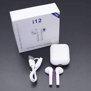 Bluetooth Slušalice i12 Samo 1.599 dinara.Bluetooth Slušalice i12 5.0