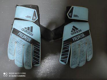 Sport i hobi - Sabac: Adidas golmanske rukavice Uzrast 4-6godina Korišćene 6meseci