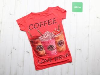 Женская футболка с принтом COFFEЕ LOVE DRING Длина: 51 см Пог: 34 см П