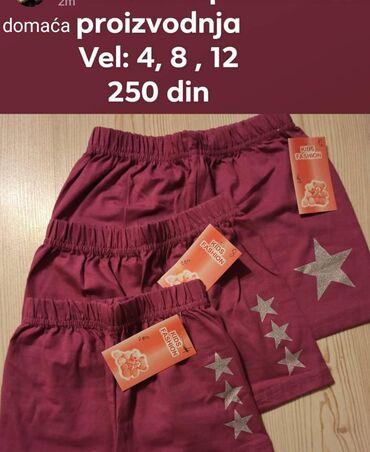 Šorcevi za devojčice po ceni od 250 din. Domaća proizvodnja