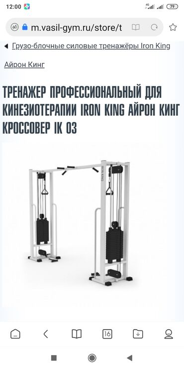 Видеокамера профессиональная - Кыргызстан: Тренажер кроссовер iron king Россия. Жим лежа отрицательный