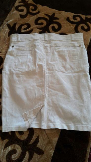 Продаю юбку белая, хб карандаш.Турция в Бишкек