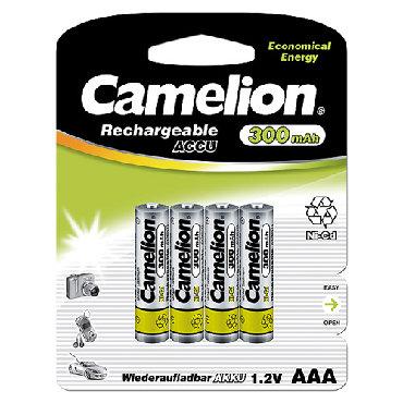 Аккумулятор Camelion пальчиковый R03/AAA 300mAh Ni-CdНевозможно