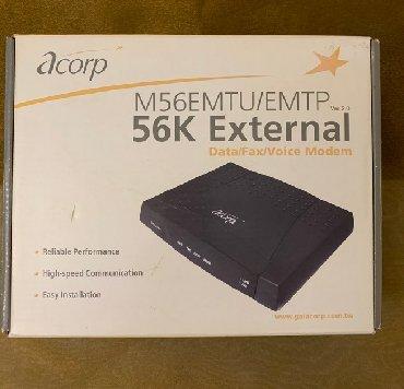 инверторы для солнечных батарей 56000 в Кыргызстан: Modem Acorp 56K V92 Ext.Модем ACORP 56000 в полной комплектации