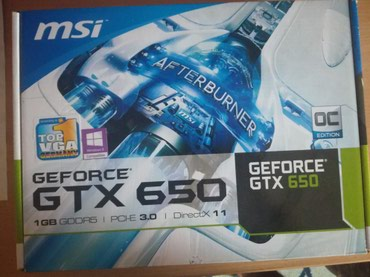 MSI GeForce GTX 650 1GB GDDR5 OC Edition - Pancevo
