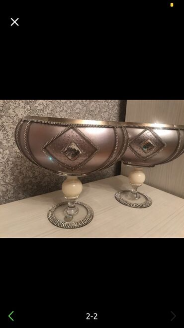 Ev və bağ Balakənda: Swarovski qaslarla vazo, orijinaldir, yenidir, 2 si birlikde satilir