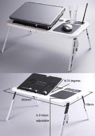 uygun laptop fiyatları - Azərbaycan: Noutbuk masasi laptop table LD_09Ayaglari qatlanandi soyuducu fanı var