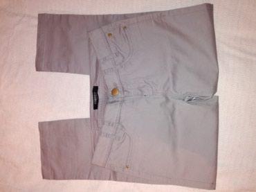 Pantalone tri cetvrt,uske skroz sa malim slicevima,svetlo sive sa - Belgrade