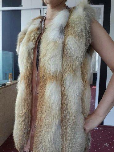 жилет лиса в Кыргызстан: Срочно срочно!!! Продаю жилетку из лисы. Мех цельный не кусковой