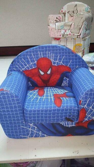 Nameštaj - Vrsac: Decija foteljica sundjer + pamucna navlaka koja se skida i