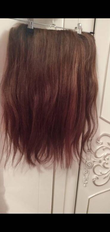 Təbii saçdan cırt-cırt satılır. Uzunluğu 48 sm. Qiyməti 65 azn