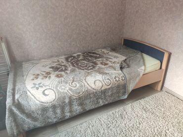 Кровати - Кыргызстан: Продаю большую, хорошую полутораспальную кровать с ортопедическим