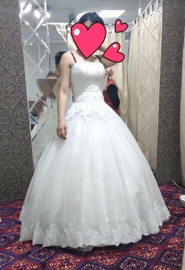 свадебные платья in Кыргызстан   МАТЕРИНСКИЕ ПЛАТЫ: Продаю 3 свадебные платья. Один пышный размер -44-46-48-50. А 2