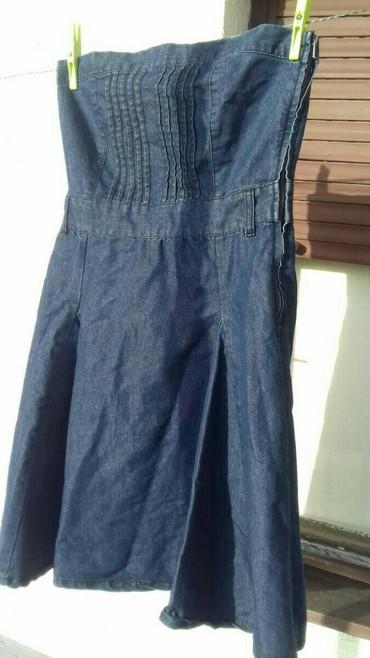 Haljina-lagana-letnja-nikolas - Srbija: Teksas haljina, top, a dole se siri, duzine do kolena. Lagana, letnja