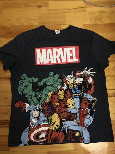 Marvel original t shirt.Olcu L-XL.George firmasi ingiltere