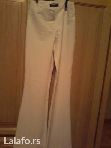 Pantalone bele  36 vel bez ostecenja lepo stoje elegantne - Beograd - slika 2
