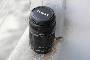 Obyektivlər və filtrləri - Azərbaycan: Canon 55-250 lens II nusxe satilir. Lens yeni kimidir ideal