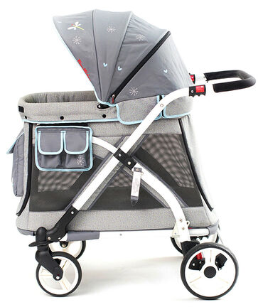 Wonderfold Wagon MJ01 Multi Function Pram Stroller Chariot Mini Gray