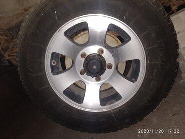 шины и диски в Кыргызстан: Продаю диски стаяли на уазике размер шины 225.75.R16 5 шт неваренные