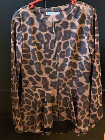 платья рубашки оверсайз в Кыргызстан: Размеры 46-48. Леопардовая кофта с баской на замочке-, Майка новая