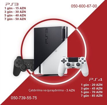 Видеоигры и приставки в Азербайджан: Playstation 4/3 whatsappa yazin