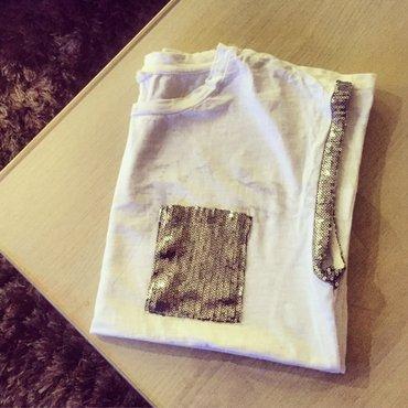 Bela zenska majica, nova, Velicina L, pamuk 100 %. Novo!! - Vranje