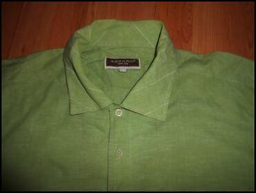 Kosulja Azzaro zelena vel. 3XL sledecih dimenzija sirina ramena