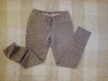 Pantalone-helanke-tamno-borda-bojaa - Srbija: Helanke pantalone pepito šara S veličina