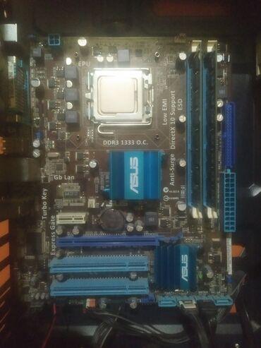8 компьютеров в Кыргызстан: Продаю комплект Материнская плата - Asus P5G41T-M LX Процессор - Xeon