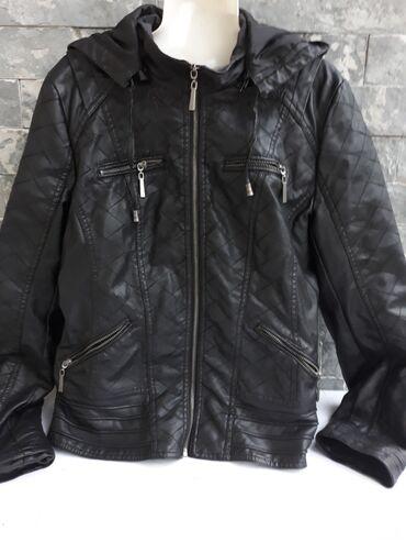 Kožna jakna XL vel.Slikana oštećenja oko ramena se malo guli koža,pa