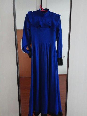 теплое платье батал в Кыргызстан: Платье длинное . Теплое платье зима, осень,весна. С карманом.Цена