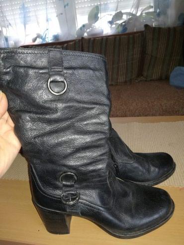 Crne kožne cizme 36 - Leskovac