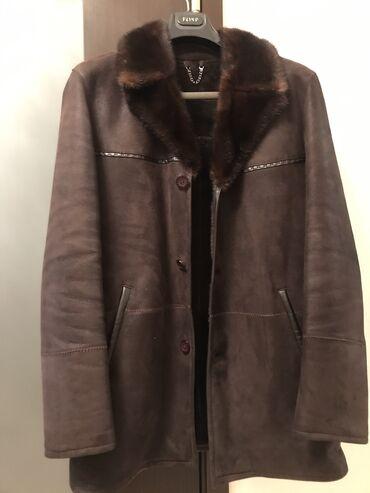 одежда больших размеров бишкек в Кыргызстан: Мужская дублёнка размер 52-54 натуралка коричневого цвета в отличном с