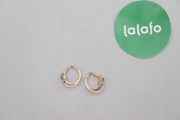 Личные вещи - Украина: Жіночі золотисті трендові сережки    Діаметр: 3,5 см  Стан гарний
