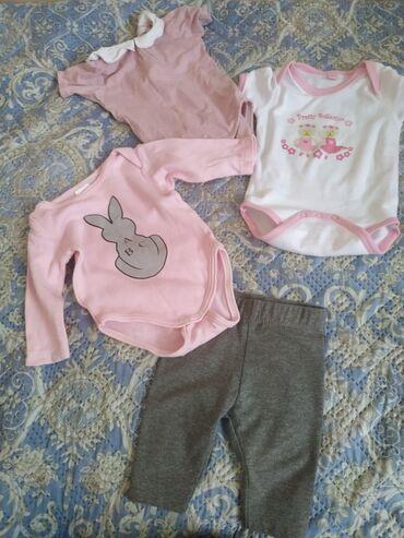 Детская одежда для малыша. Размер 3 мес. 2 боди с короткими рукавами