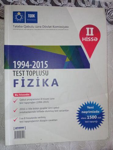 Fizika Test Toplusu 2 Ci Hisse Pdf Azərbaycanda Kitablar Jurnallar Cd Dvd Lalafo Da