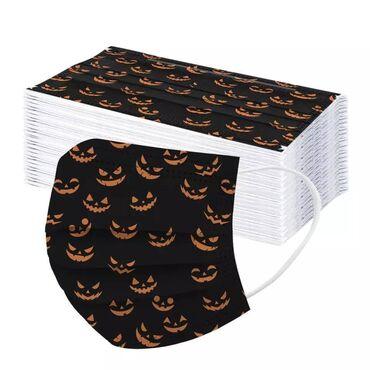 Jednokratna zastitna maska Halloween - 5 kom   Troslojna jednokratna z