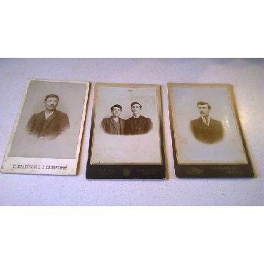 3 Χοντροχάρτονες Φωτογραφίες. Διαστάσεις από αριστερά: 17 x 11 εκατ.