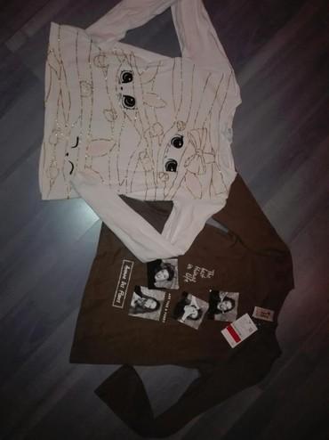 Dečiji Topići I Majice | Cuprija: Prelepe bluzice bela nosena ali očuvana skroz,druga nova sa etiketom c