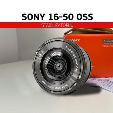 50 mm - Azərbaycan: SONY 16-50 OSS (Stabilizatorlu) - Təzə kimi linza ( lens və ya